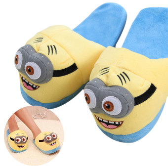 Harga Unisex Cute Despicable Me Minions Soft Plush Indoor Warm Slipper for Winter Plush Puppets - intl