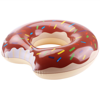 Harga CatWalk Donut Swimming Swim Float Ring Inflatable Pool Toy 90cm (Chocolate) - intl