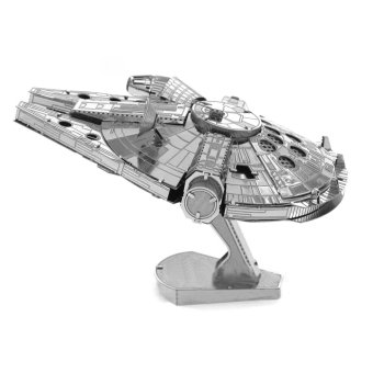 Harga Adult Kids Toys Millennium Falcon 3D Scale Models Jigsaw Puzzle DIY Metal Building Model