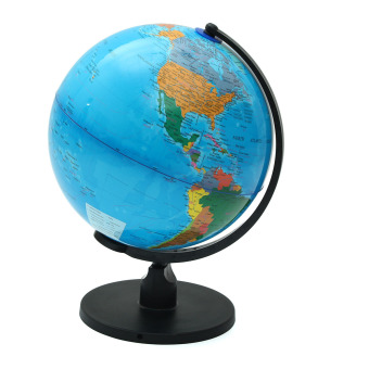Harga 25cm Rotating World Earth Globe Atlas Map Geography Education Toy Desktop Decor - intl