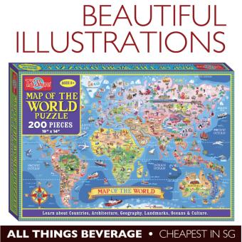 Harga T S Shure Map of the World Jigsaw Puzzle 200 pieces (Cheapest in SG)