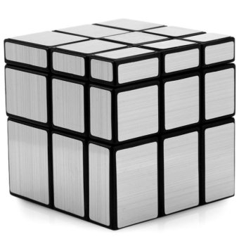 Harga Shengshou Creative 3 x 3 x 3 Silver Mirror Speed Cube Brain Teaser Toy(SILVER)