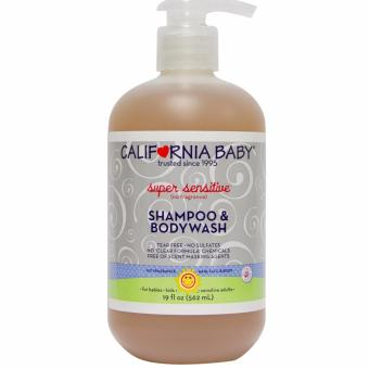 Harga California Baby Super Sensitive Shampoo and Body Wash 19oz