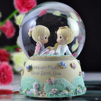 "Harga Precious Moments ""Heaven Must Have Sent You"" Snow Globe - Perfect Gift for Valentine's Day/Birthday/Propose/Engagement/Wedding/Anniversary"