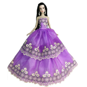 Harga Handmade Gown Dresses Party for Barbie (Purple) - Intl