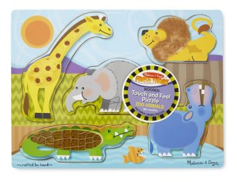 Harga Melissa and Doug Touch and Feel Puzzles Zoo