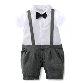 Harga New Fashion Boy Strap Baby Jumpers Round Collar Baby Jumpers-Grey