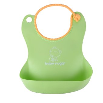 Harga A Silicone Disposable Bib Baby Bib children (Green)
