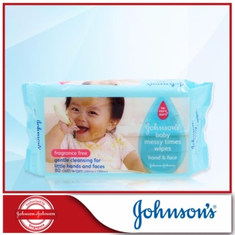 Harga Johnson's Baby Messy Time Wipes 80sheets