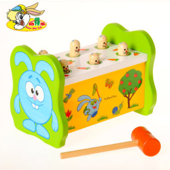 And young was music puzzle percussion Wooden Toys