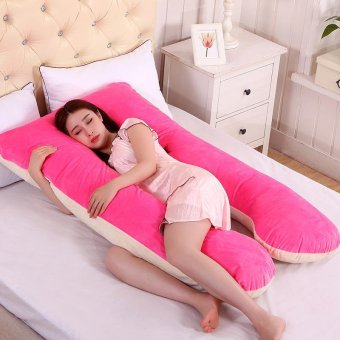 Harga Baby lily Pregnancy Comfortable Rose Color Body Pillows for Pregnant Women - intl