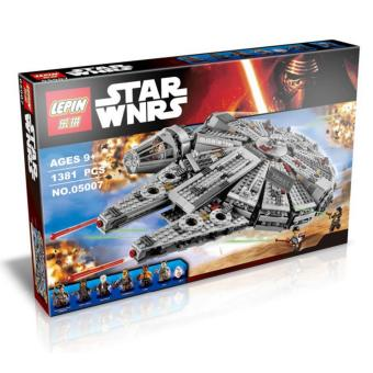Harga LEPIN 05007 Millennium Falcon Star Wars Building Block Set(Multicolor)