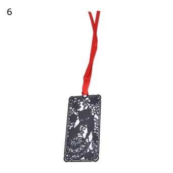 Harga Metal Japanese Black Paint Cat Clip Bookmarks For Gift Present Souvenirs Wonderland Cat - intl