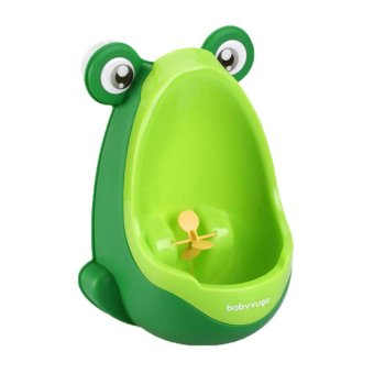 Harga BolehDeals Toddler Boy Kid Toilet Frog Potty Urinal Stand Up Pee Wee Training-Green(Export)