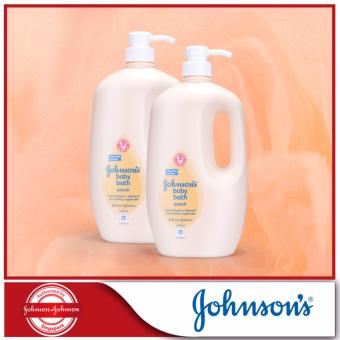 Harga Johnson's Baby Peach Bath 1000ml x 2pcs