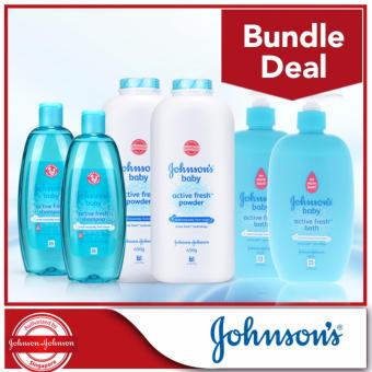 Harga Johnson's Baby Active Fresh Bundle
