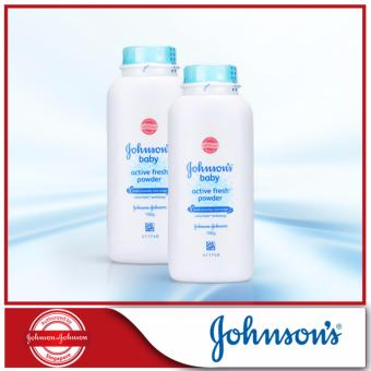 Harga Johnson's Baby Active Fresh Powder 100g x 2pcs