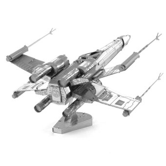 Harga DIY 3D Three-Dimensional Jigsaw Puzzle Assembled Metal X-wing Fighter Aircraft Model Educational Toy