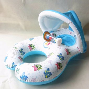Harga With Sunshade Inflatable Swimming Ring Float Baby Seat Rings - intl