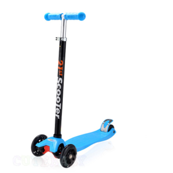 Harga CMAX Height Adjustable Kids Scooter with Flashing LED Wheels (Blue)