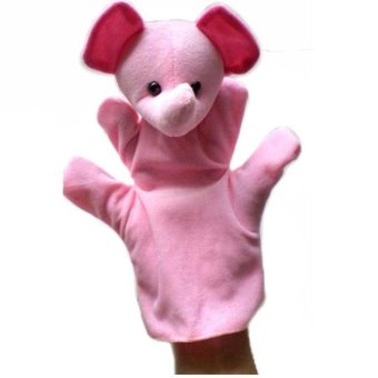 Harga 1Pcs Finger Even, Storytelling, Good Toys, Hand Puppet for Baby's Gift Pink - intl