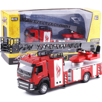 Harga Caipo volvo alloy tanker water tanker fire truck ladder truck acoustooptical engineering car mixer truck model toy
