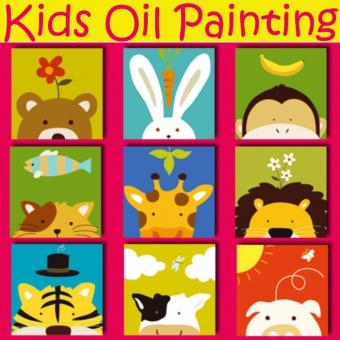 Set of 3 - Kids Oil Painting Canvas Set (Animal Series)