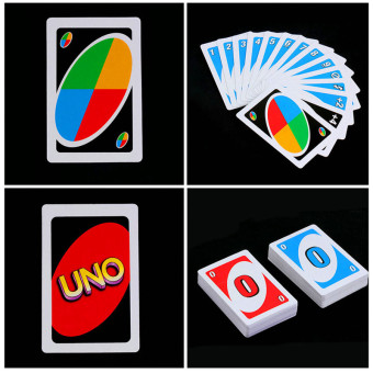 HengSong Family Funny Entertainment Board Game UNO Fun Poker Playing Cards Puzzle Games Family Fun Poker - intl