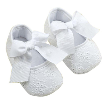 Harga PAlight Baby Girls Ribbon Bowknot Soft Bottom Cotton Shoes