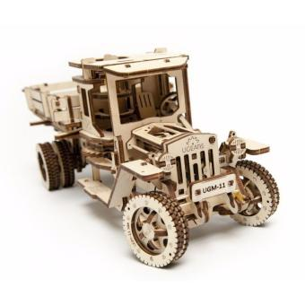 Harga UGears Truck UGM-11 3d puzzle gift mechanical wooden toys 3D Puzzle Kit - intl