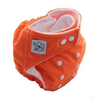Harga PAlight Baby Adjustable Soft Nappy Cloth Diapers Covers (Orange)