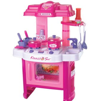 Harga Xiong Cheng 008-26 Deluxe Beauty Kitchen Appliance Cooking Play Set Pink