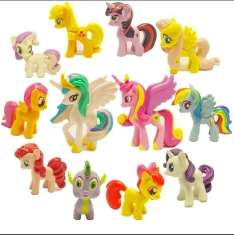 Harga Lot of 12Pcs My Little Pony Cake Toppers PVC Action Figures Kids Girl Toy Dolls (New)