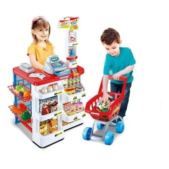 Harga Xiong Cheng 668-01 Home Supermarket Play Set (Red)
