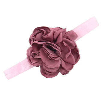 Harga Baby Toddler Infant Flower Shape Headbands Hair Band Soft Fabric Headwear Simple Accessories Dark Red