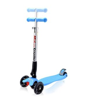 Harga CMAX Foldable Kids Scooter with Flashing LED Wheels (Blue)