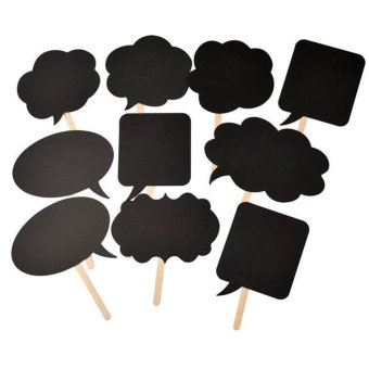 Harga 10x Photo Booth Prop DIY Bubble Speech Chalk Board Wedding Party Photobooth Hot - intl