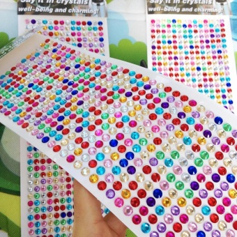 Harga Crystal Diamond stickers 504 pieces children's handmade diamond sticker puzzle map mobile phone car decoration Diamond