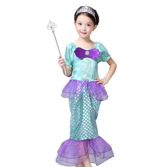 Harga Ciao Cartoon Mermaid Costume Children Gift Cosplay Cloth -S