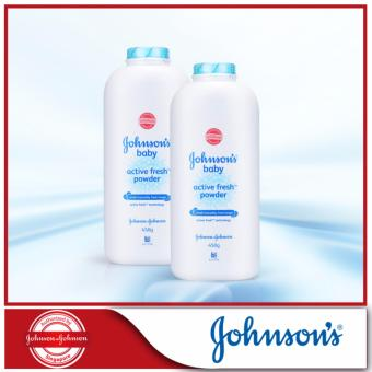 Harga Johnson's Baby Active Fresh Powder 450g x 2pcs