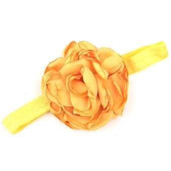 Harga Baby Toddler Infant Flower Shape Headbands Hair Band Soft Fabric Headwear Simple Accessories Yellow