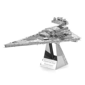 Harga DIY 3D Puzzle Assembling Stainless Steel Lmperial Star Destroyer Model