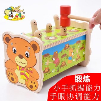 Wooden toys educational early childhood years old and young children baby boys and girls play hamster game machine fun toys