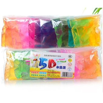 Harga 12bags/set Crystal Mud Play Clay Soil Dry Plasticine Playdough Play-doh Kids - intl