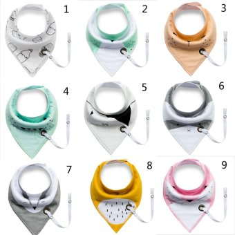 Harga 21 styles HOT Multi-function Cotton Bibs Unique Cartoon Triangle Cotton Towel Baby Bib (Size/Style:4 ᆪᆲColorᆪᄎMulticolor) - intl