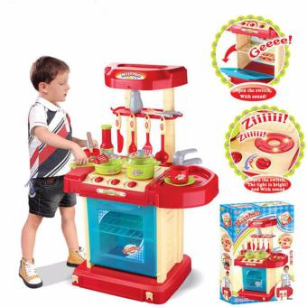 Harga Pro Kids Simulation Kitchen Toys Children Play Toys Baby Kitchen Toys Set Cooking Pretend Role Toy Play Set Lights Sound Electronic - intl