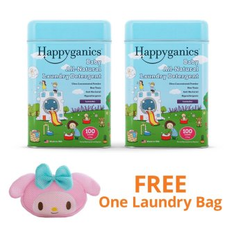 Happyganics Baby All-Natural Laundry Detergent 1.5kg (Lavender x 2) and FREE My Melody Laundry Bag