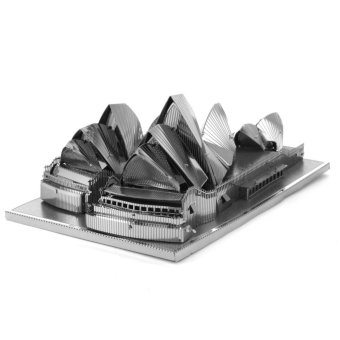 Harga DIY 3D Metal Puzz Model Toys or Children Adult Architecture - intl