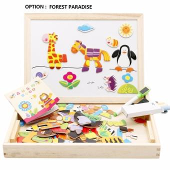 Harga 2in1 Magnetic Educational Puzzles with 2 ways writing board