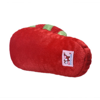 Dog Toy Pet Puppy Chew Squeaky Squeaker Sound Plush Slipper Shape Red+Green